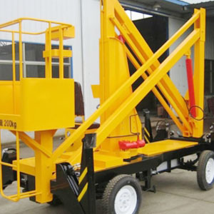 Crank type aerial work lifting platform