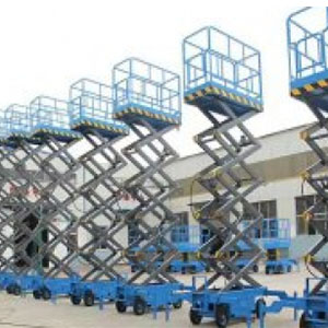 Mobile hydraulic lifting platform